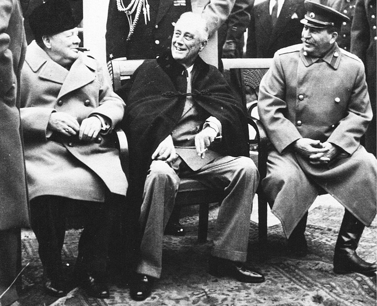 president roosevelt winston churchill and joseph stalin ya Livadia palace, seen in may 1918 it was the site of the yalta in february 1945  president roosevelt and his party were quartered in the 50-room palace of which .